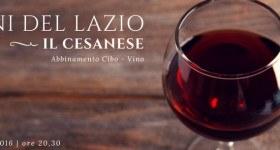 Serata Cesanese con abbinamento cibo-vino: quant'è buono il Lazio!